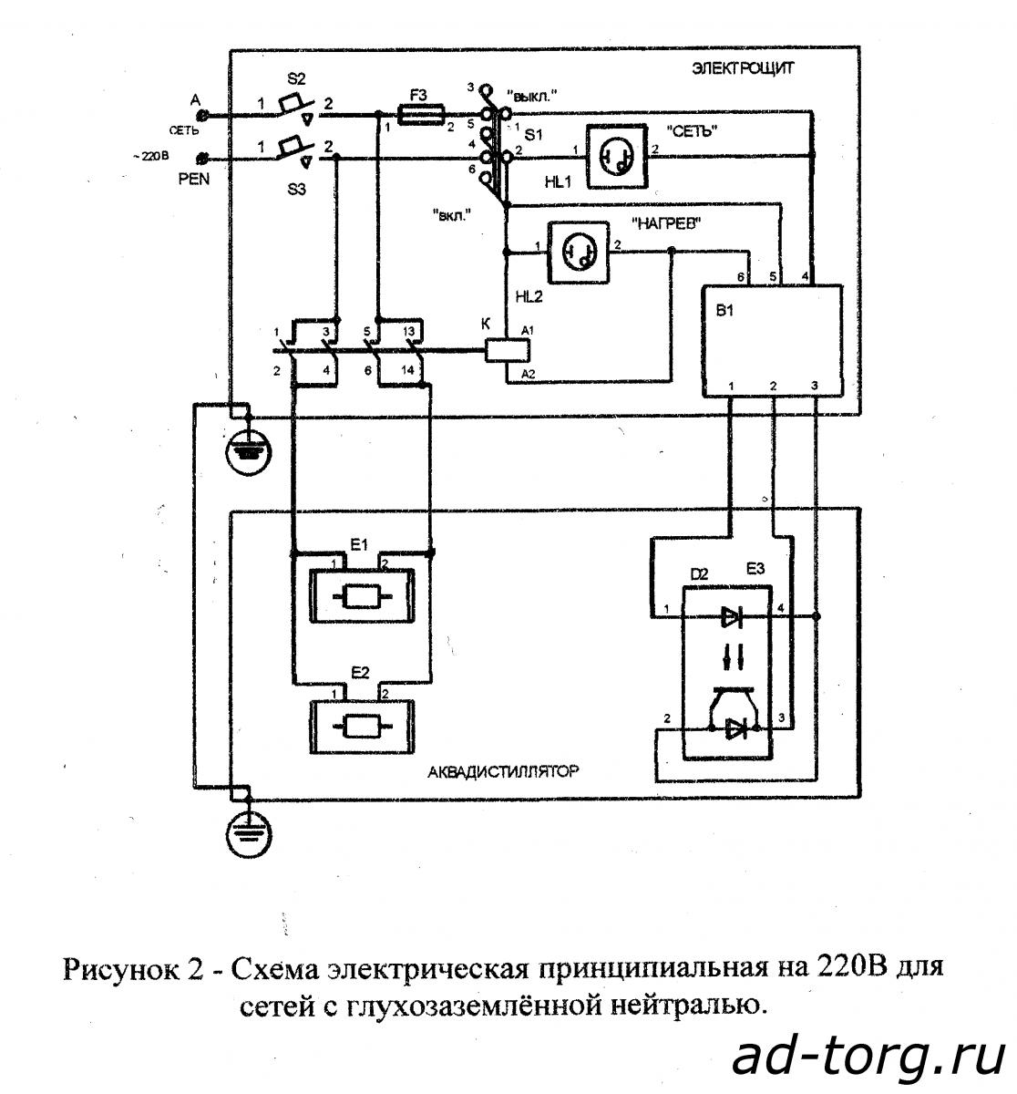 Аквадистиллятор ДЭ-4 (Тюмень) Купить дистиллятор Аквадистиллятор дэ-4 схема соединения